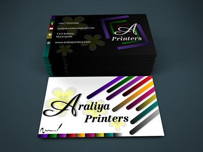 Araliya Printers unique design unique minimalism printing press logodesigns logo custom minimal illustration fiverr design business cards businesscarddesign business card adobephotoshop adobeillustator