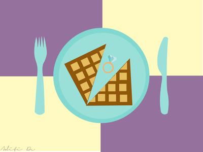 """""""Breakfast at Tiffany's"""" Poster Illustration"""