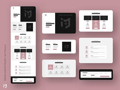 The Website Anatomy Project: Mid-Fi Design B website concept website builder website design website webdesign