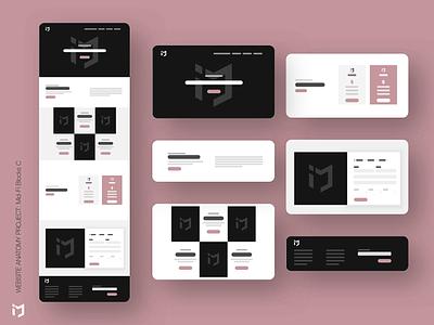 The Website Anatomy Project: Mid-Fi Design C website concept website builder website design website webdesign