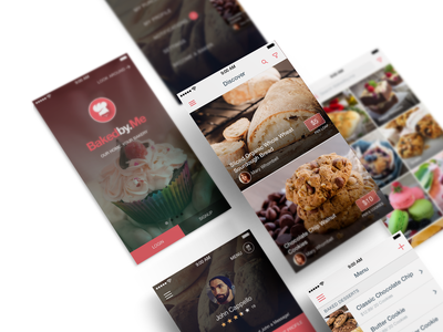 BakedbyMe UI Design ui design ui  ux uidesign