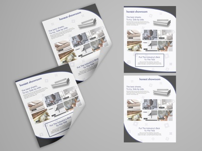 Marketing Material for a Bed, Sheets, and Mattress Company