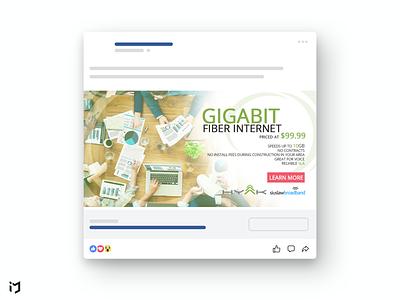 Social Media Ad Design for ISP Company banner design graphic design advertisment social media design