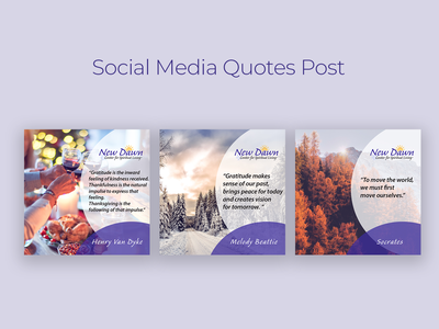 Social Media Quotes Post graphic design social media design