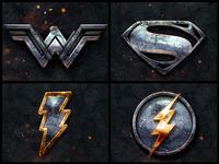 DC Heroes Metallic Logos