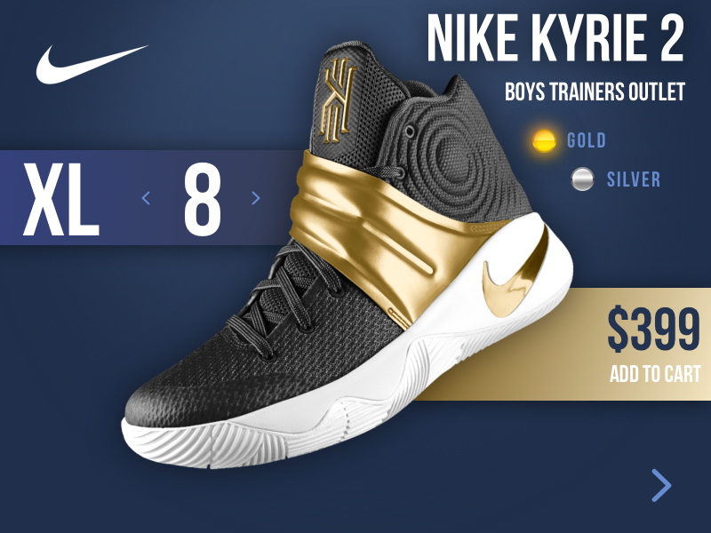 outlet store a81d6 24358 NIKE KYRIE 2 Boys Trainer Outlet by Pawan Chaudhary on Dribbble