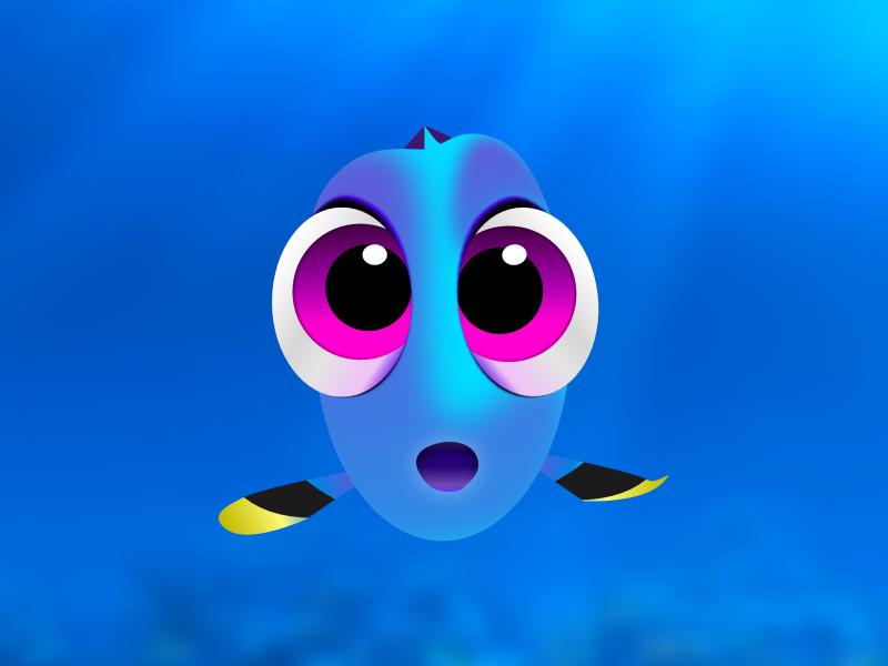 Dory in Sketch pixar nemo dory design character