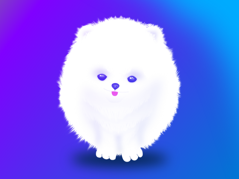 Snowy: Our Neighbour Pup character illustration