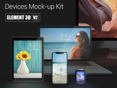 Devices Mock up Kit Black Edition