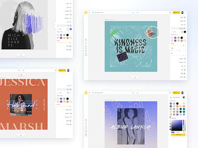 Web Project Colors colors ux design website product design builder platform app ui web design swatches color project colors color palette web app editor web editor