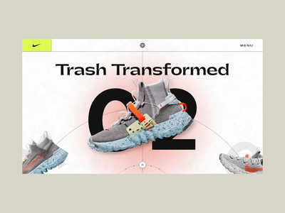 This is Trash - Sneaker Concept 👟 sneakers website design application concept design sliders ecommerce nike sneaker concept ui clean web