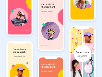 """""""Nice colors"""" - The Collection 😅 mobile ui iphonex pastel clean branding circle grid layout design design ios templates colorful layout color creative instagram story marketing social media collection"""