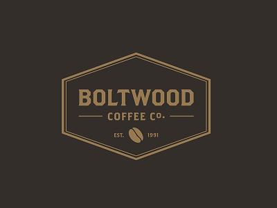 Boltwood Coffee  coffee beans burlap vandercook printmaking brand coffee logo