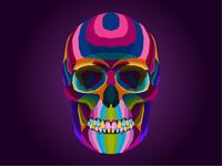 colorful skull creative artwork pop art portrait