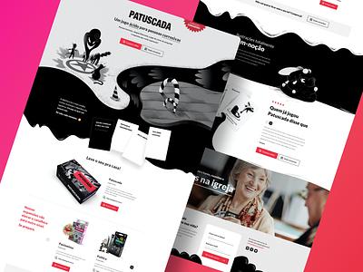 Patuscada | Card Game Website ui design web site ui design web website card games card game card