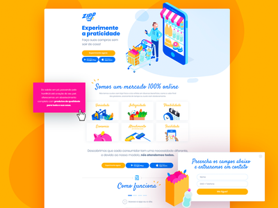 Zipp | Online Supermarket Landing Page supermarket delivery grocery grocery store grocery web page landing design landing page design landing page ui web page web landing page design ui
