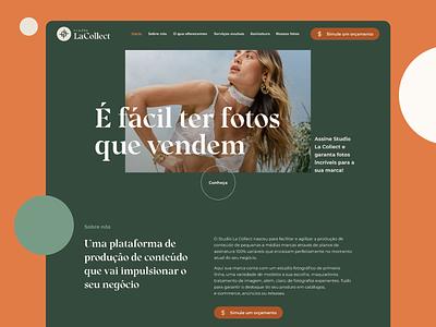 Fashion photography studio website photography fashion website ui design