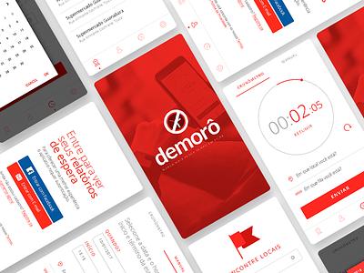 Demorô App mobile time places ui line app