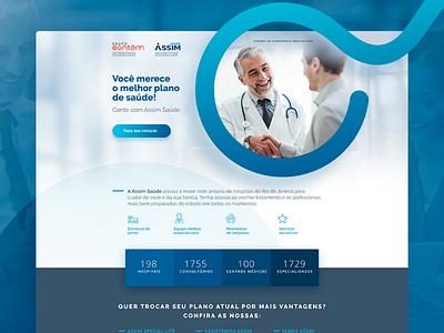 Health Plan Landing Page web page web health plan design health uidesign ui landing page