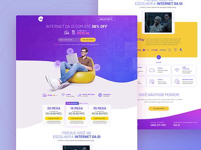 Landing Page | Oi Banda Larga internet oi web page web landing page design ui