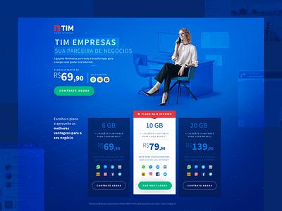 Landing Page | TIM Black Empresas telecom web page web landing page design ui