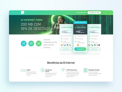 Landing Page | Oi Fibra desktop page oi telecom web page web landing page design ui
