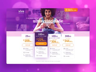 Landing Page | Vivo Combo web design vivo pricing telecom telecommunications web design user interface web page ui landing page