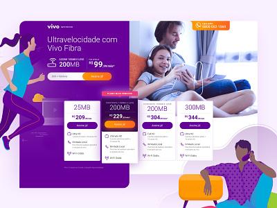 Landing Page | Vivo Combo 2 vivo illustration web design telecom web page landing page ui