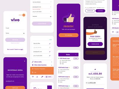 Vivo MGM | UI Map mgm uiux mobile app design illustration telecom app design ui