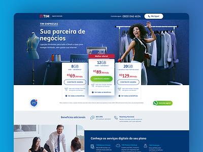 Landing Page | TIM Black Empresas 2 landing page design ui telecom web web page landing page ui designer landing page design