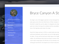Travel Blog experience interface user lean dashboard typography uiux clean blog travel
