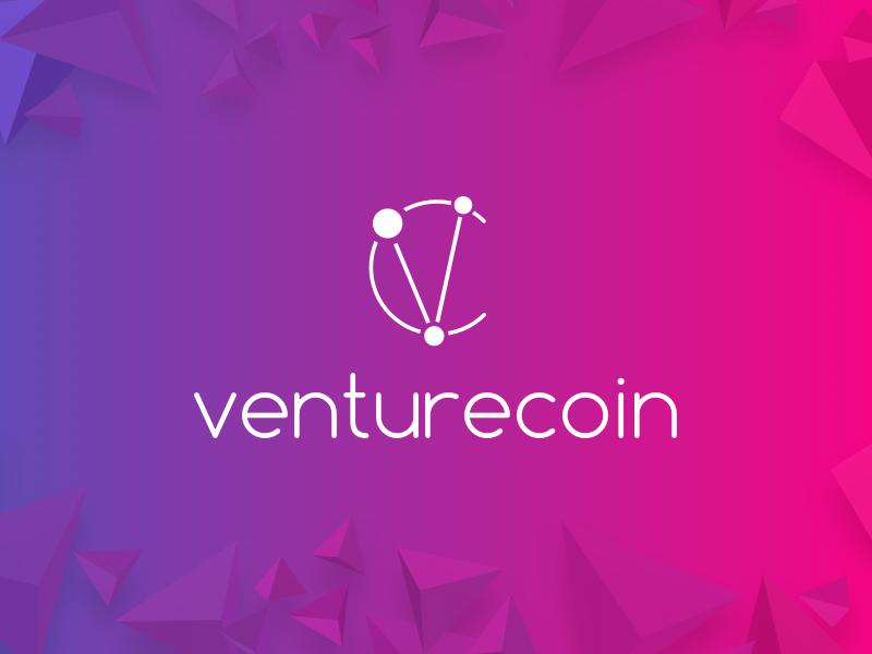 Venturecoin Logo bitcoin stratup gradient coin venture logo