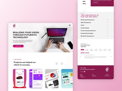 Click and press- IT company Website web ux ui design