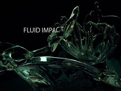 Fluid Impact render after effects modo 3d