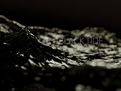 Black Tide render octane c4d motion graphics motion design 3d