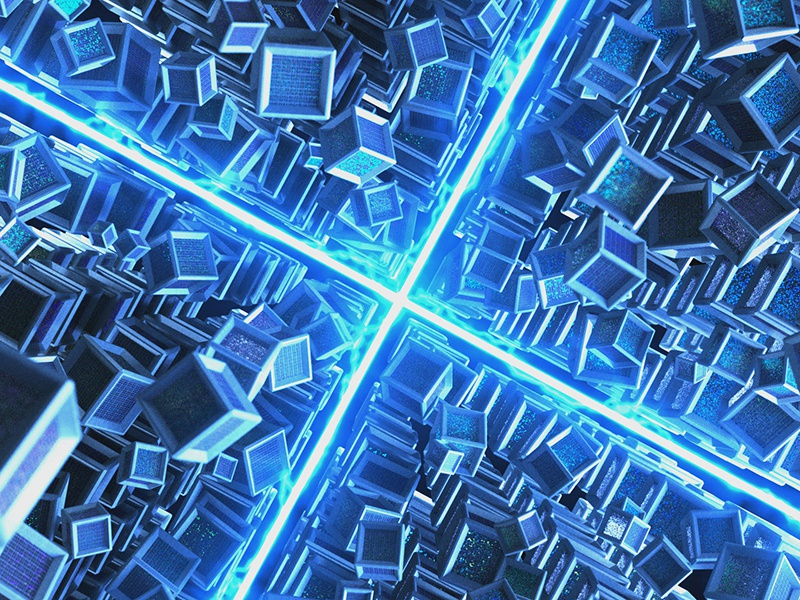 Solar Cubes render octane c4d motion graphics motion design 3d