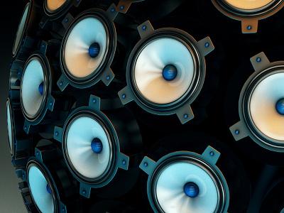Speaker Ball 2 render c4d motion graphics motion design 3d