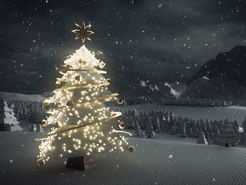 Christmas Card render arnold mash maya animation motion graphics motion design 3d