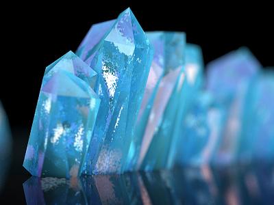 Crystals render c4d animation motion graphics motion design 3d