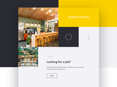 Wework Creative homepage orange web design web interaction mockup digital design ux ui animation creative wework