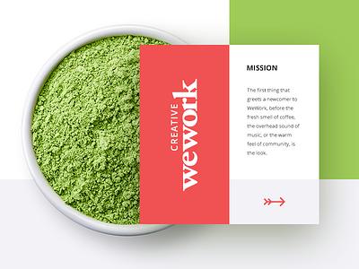 Wework Creative culture green web design web digital design ux ui nature clean fresh creative wework