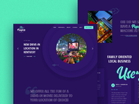 Outdoor movie landing page
