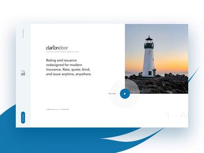 ClarionDoor - website prototype interactive prototype animation scrolling navigation website web design ux ui digital web design