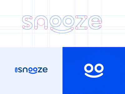GetSnooze - brand & website startup white blue brand strategy concept brand simple typography clean brand design logo startup website