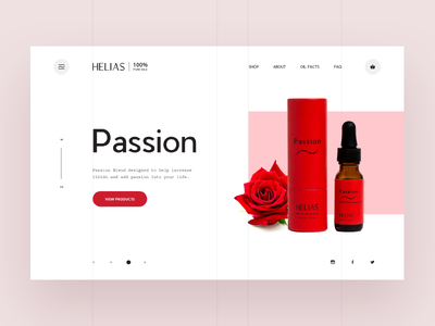 Helias oils - passion product line creative interface pure clean ux ui mockup digital design web design web libido passion health product essential oil