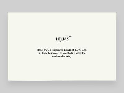 Helias Oils - intro and slider v2 design digital e-commerce webgl color slider animation interaction user experience ux ui mockup website web oils essential