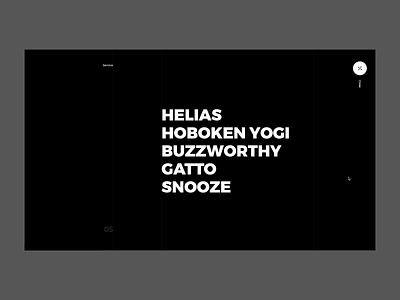 Juraj Molnár - Project Menu image distortion typography black ux ui web design website web motion interaction menu navigation