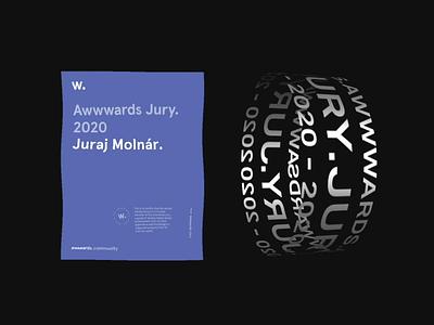 Proud to be an Awwwards Jury 2020 promo website design ux ui web motion awwwards jury
