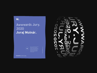 Proud to be an Awwwards Jury 2020 promo website design ux ui web motion awwwards jury