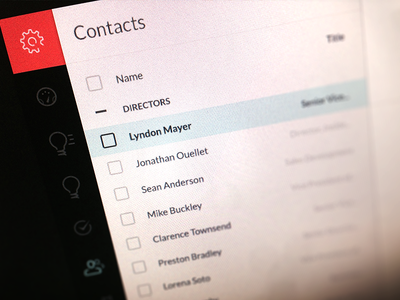 CRM Contacts List